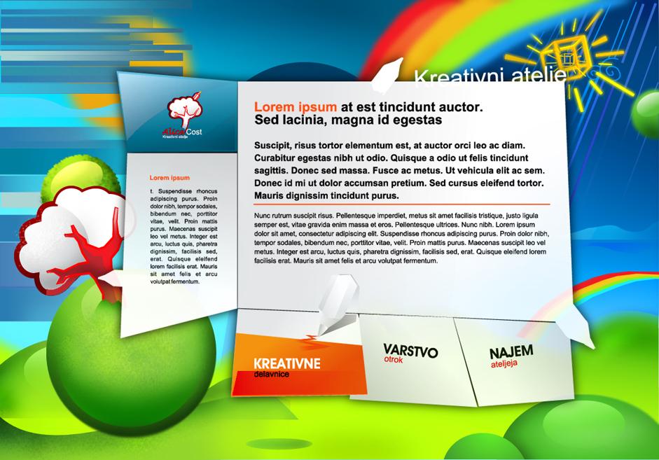 Spletna stran Alice Cost, Grafično oblikovanje Studio Legen